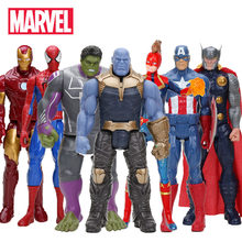 Marvel Mainan Avenger Endgame 30CM Super Hero Thor Hulk Thanos Wolverine Spider Man Iron Man Action Figure Mainan boneka(China)