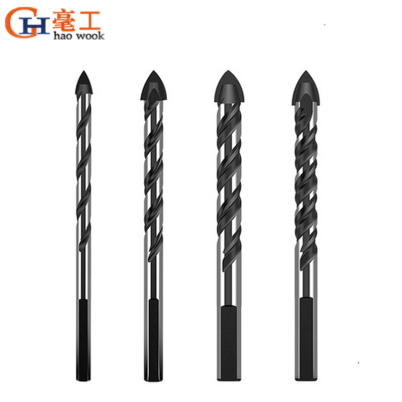 Multi Functio Triangular Drill Bits Hole Openers For Ceramic Glass Concrete Power Driver Adapter Drill Bit Kit Accessories Tools
