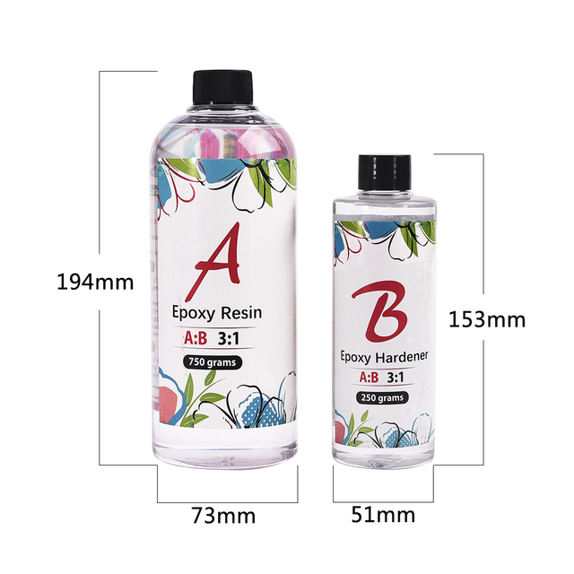 31 Resin Epoxy AB Crystal Glue Jewelry Making Transparent Mixed Clear For DIY Resin Jewelry Crafs 100g/280g/400g/1000g