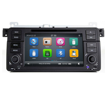 AutoRadio 1 Din New Car DVD Player For BMW E46 M3 318/320/325/330/335 Rover 75 1998-2006 GPS Navigation BT Wifi image