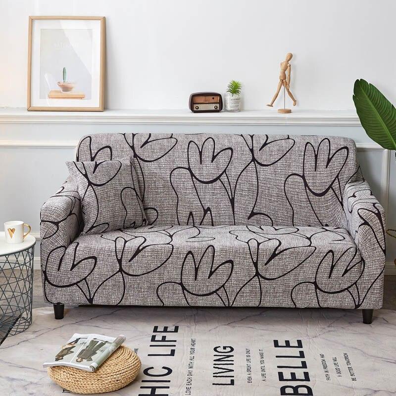 Floral Stretch Sofa Abdeckung Baumwolle Elastische All-inclusive-Stuhl Ecke Couch Abdeckung Sofa Abdeckungen für Wohnzimmer Haustiere copridivano