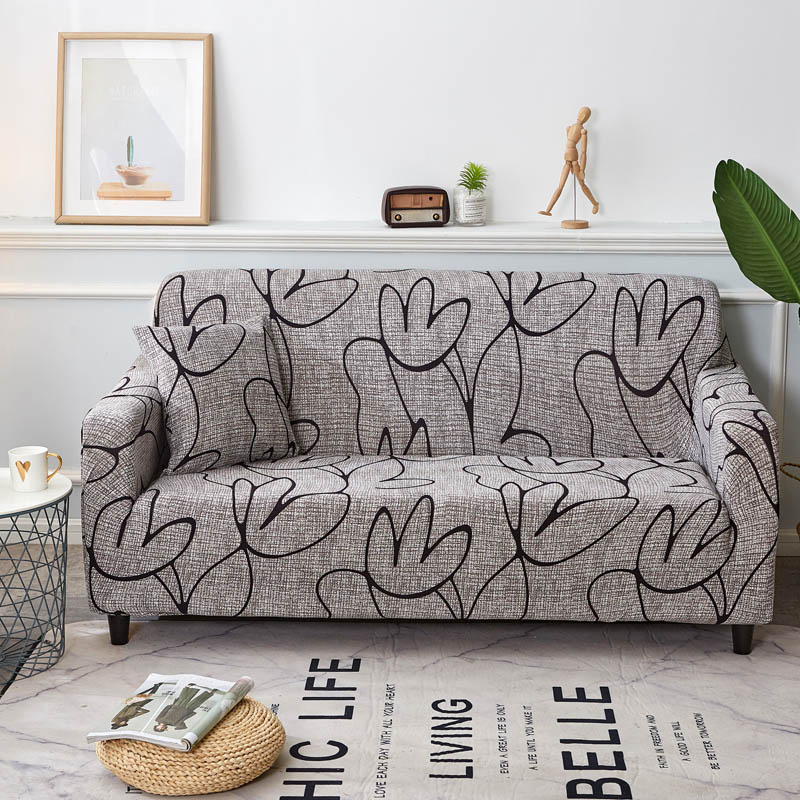 Floral Stretch Sofa Cover Cotton Elastic All-inclusive Chair Corner Couch Cover Sofa Covers for Living Room Pets copridivano