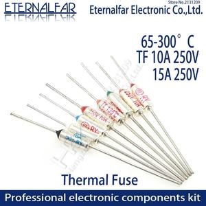 TF Thermal Fuse RY 10A 15A 250V Temperature Control Thermostat Switch 121 125 130 133 140 142 145 150 152 155 157 160 C Degree(China)