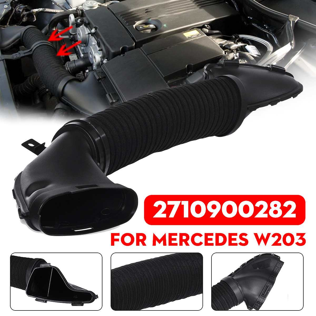 Hot New Air Hose Intake Pipe 2710900282 For Mercedes-Benz W203 C200 CLK200 CLC 160 180 200