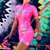 2019 pro equipe triathlon terno feminino camisa de ciclismo skinsuit macacão maillot ciclismo ropa ciclismo conjunto rosa almofada gel 8
