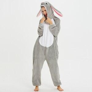 Image 2 - Unisex Kigurumi Adult Unicorn Pajamas onesie Cosplay Women Winter Flannel Pajama unicornio Sleepwear Overall Couple pijama