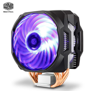 Image 5 - Cooler Master 6 Copper Heatpipe CPU cooler T610P for Intel 1155 1156 AMD AM4 CPU radiator 12cm rgb 4pin cooling CPU fan PC quiet