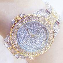 Pieno di Diamanti Orologi da Donna in Oro di Cristallo di Marca di Lusso Del Rhinestone di Bling Orologio da Polso Delle Signore in Acciaio Inox Orologio Relogio Feminino
