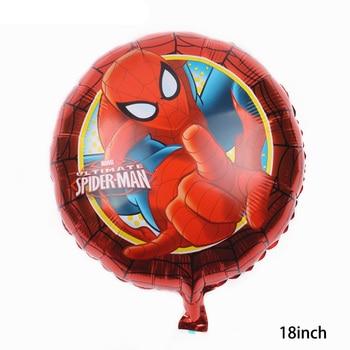55 x 63CM 3D Spiderman Iron Man Hero Aluminum Foil Balloons Birthday Party Decoration Baby Shower Supplies Globos 18