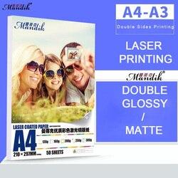 Высококачественная 120 г 160 г 200 г 250 г 300 г A3 A4 двухсторонняя Глянцевая лазерная печать, фотобумага