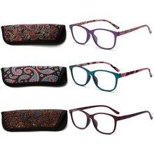 RBENN 3 Paket Bayanlar okuma gözlüğü Çanta ile yaylı menteşeler Desen Şık Okuyucu Kadın Erkek Okuma Gözlükleri