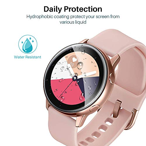 2pcs Slim Protective Film for Samsung Galaxy 44mm 40mm Watch Active Soft 3D Round Edge Screen Protector Cover Anti-fingerprint