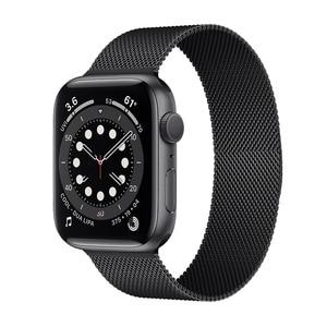 Strap For Apple watch 6 band 44mm 40mm Milanese Loop Stainless steel Metal bracelet 42mm 38mm correa iWatch series 6/5/4/3/SE