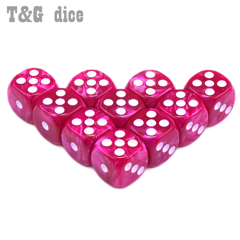Высокое качество Красочные стандартные точки 10 шт./компл. 16 мм D6 специальные шесть сторонних бар игры игральные кости Dado набор для подарка