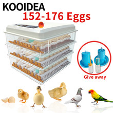 NEW chicken brooder egg incubator automatic 110v 152-176 egg incubator fully automatic poultry equipment incubator automatic