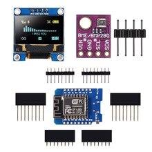 Макетная плата Wemos D1 Mini с ЖК-дисплеем OLED 0,96 дюйма и цифровым датчиком BME280 для Arduino Raspberry Pi