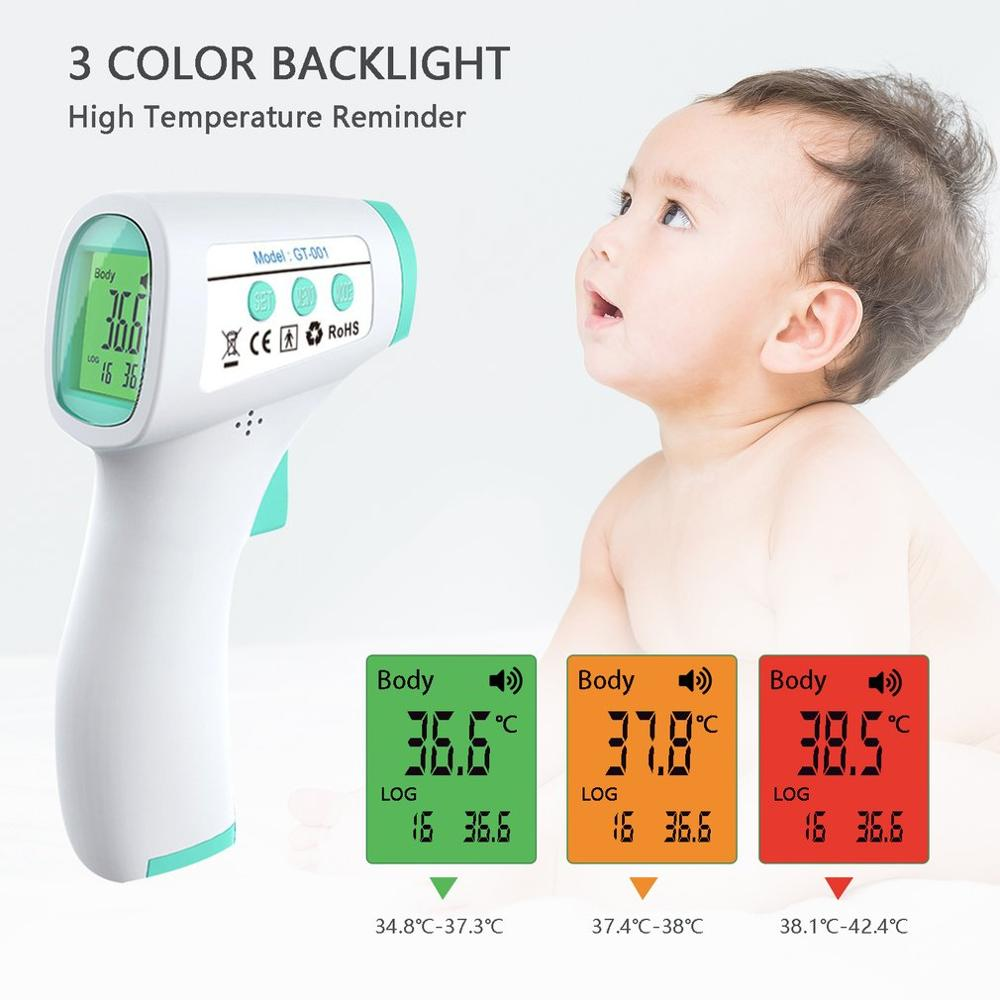 Infrared Laser Temperature Detector Portable Profession Forehead Digital Fevers Thermometers Electronic Detector For Baby Adults