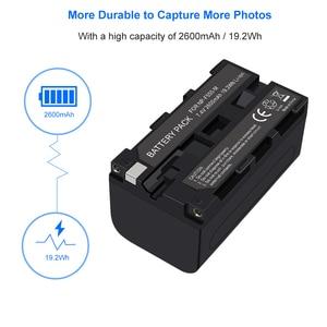 Image 5 - 1 2 قطعة NP F550 NP F570 NPF550 NPF50 بطارية USB البطارية لسوني CCD SC5 CCD TRV80PK DCR TRV820 CCD TR67 البطارية