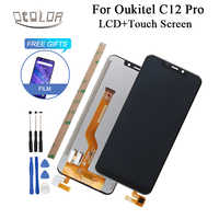 ocolor For Oukitel C12 Pro LCD Display And Touch Screen 6.18 Inch +Tools +Adhesive +Film For Oukitel C12 LCD Phone Accessories