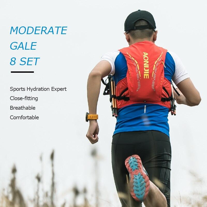 AONIJIE hommes femmes course hydratation sac à dos sport Nylon sac léger respirant 8L randonnée cyclisme Marathon gilet Pack - 5