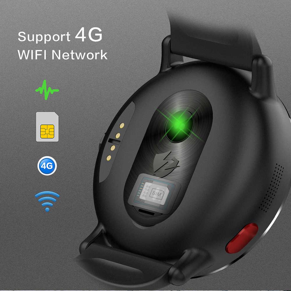 GEJIAN 4G reloj inteligente Android 7,1 con cámara de 8MP GPS Pantalla de 2,03 pulgadas 900Mah batería deporte correa de negocios para los hombres