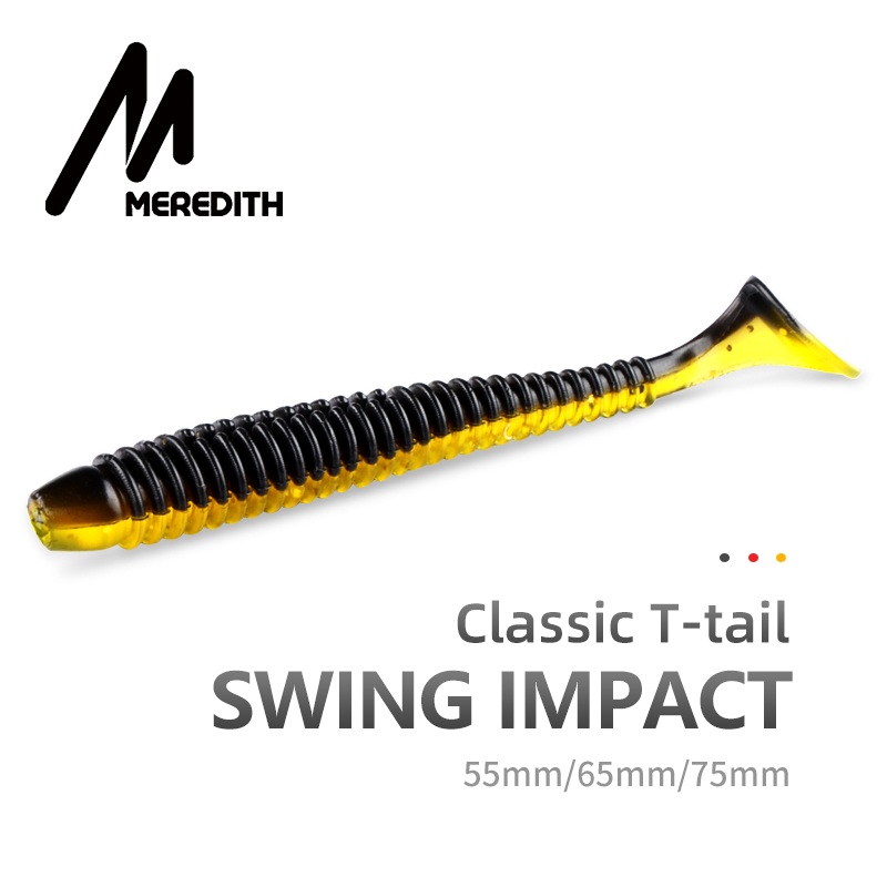 MEREDITH Swing Impact Fishing Baits 55mm 65mm 75mm Fishing Soft Lures Sea Fishing Leurre Souple Silicone Lures Bait