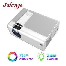 Salange проектор P60 2800 люмен светодиодный домашний кинотеатр мини видео проектор Поддержка 1080P HDMI проектор для игры в кино опционально Android