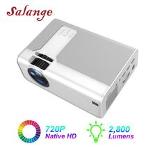 Salange Projector P60 2800 lumen LED Home Theater Mini Video Beamer Support 1080P HDMI Movie Game Projector Optional Android