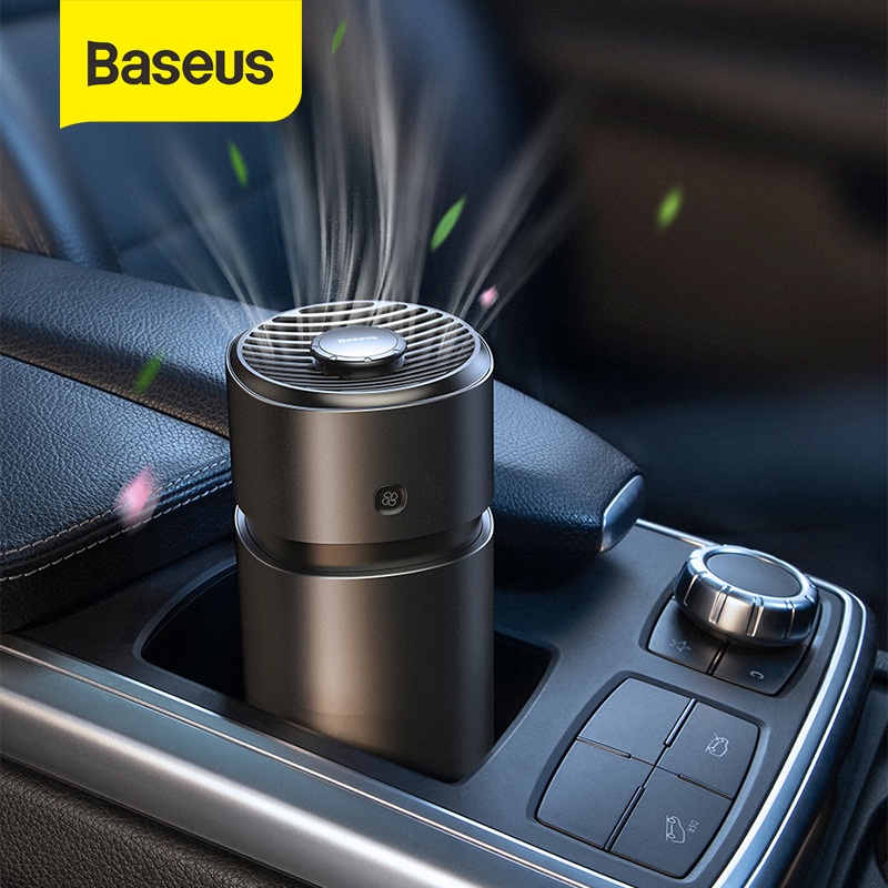 Baseus Car Air Freshener Diffuse With Fan Aromatherapy Auto Formaldehyde Purifier Air Cleaner Flavoring Perfume Air Purifier Car