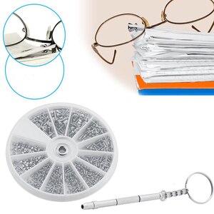 1 Set Glasses Repair Tool Professional Nut Screw Sunglasses Watch Screw Case Clock Repair Parts Accessories
