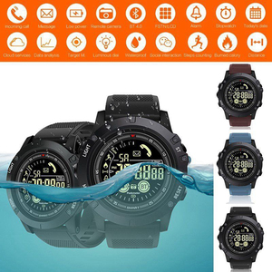 Reloj inteligente deportivo portátil, resistente al agua, con Bluetooth, Larga modo de reposo, táctica militar, podómetro con Esfera luminosa
