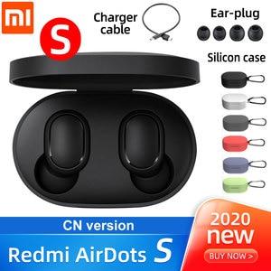 Original Xiaomi Redmi Airdots s TWS Xiaomi Wireless earphone Voice control Bluetooth 5.0 Noise reduction Tap Control headphones