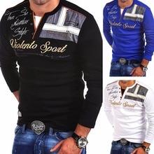 ZOGAA メンズカジュアルポロシャツ長袖ポロシャツ男性の綿スリムフィットパラ Hombre ブランドの服の男性ポロシャツ