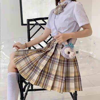 Japanese School Uniforms Orange Skirts Girl\'s Dresses JK Suits Bowknot Shirt Female Sailor Costumes Dress Clothes for Women