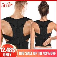 Corrector de postura ajustable para terapia magnética, cinturón de respaldo de hombros para hombres y mujeres, tirantes y cinturón de soporte
