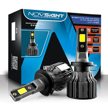 NOVSIGHT H11 Led Car Lamps 6000K 72W 10000LM Pair H4 H7 H1 H13 9005 9006 9004 H3 9007 9012 881 Light For Replace Bulb Headlight