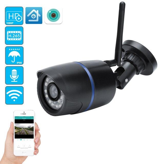 USAFEQLO nagrywanie dźwięku HD 1080P Wifi kamera IP P2P 1080P CCTV nadzór bezpieczeństwa z Micro SD/gniazdo karty TF iCsee wodoodporna