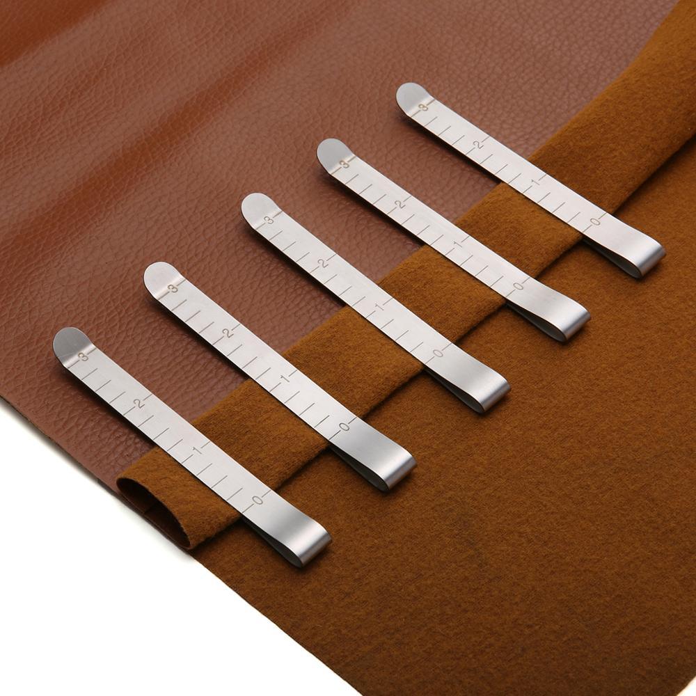Зажимы для шитья, металлические обжимные зажимы из нержавеющей стали, измерительная линейка «сделай сам» для шитья, шитья, маркировки
