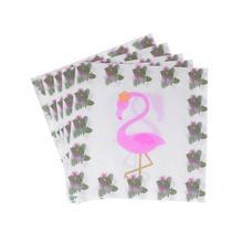 20 шт Дети День рождения одноразовые ОБЕДЕННЫЕ принадлежности Декоративные салфетки Бумага с Фламинго салфетки для вечеринок для Гавайских летних праздников карнавал