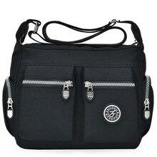 2020 المرأة حقائب جديدة مقاوم للماء حقائب الكتف و crossbody سستة النايلون موضة عبر السفر المرأة حقيبة ساعي