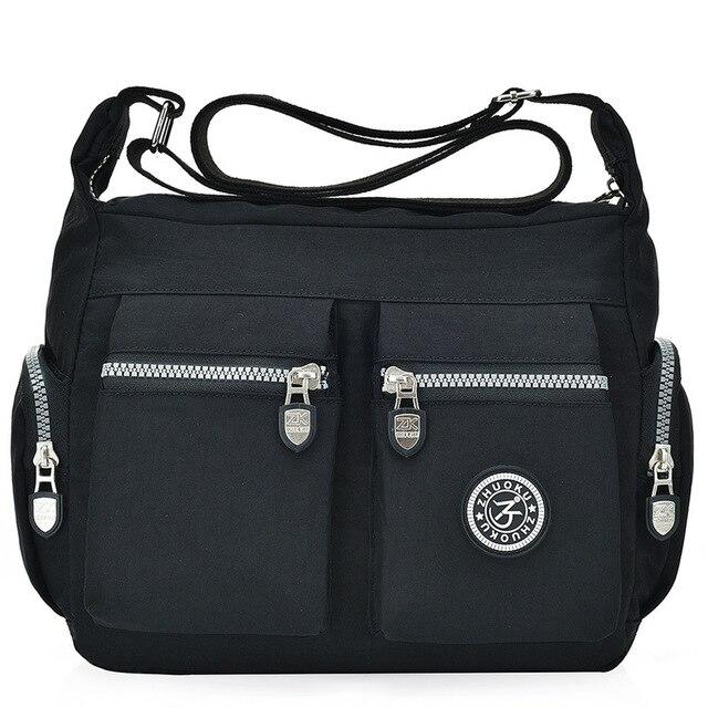 2020 여성 가방 새로운 방수 어깨 & crossbody 가방 지퍼 나일론 패션 크로스 여행 여성 메신저 가방