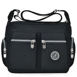 Image 1 - 2020 womens bags new waterproof  shoulder & crossbody bags zipper nylon fashion cross travel  womens messenger bag