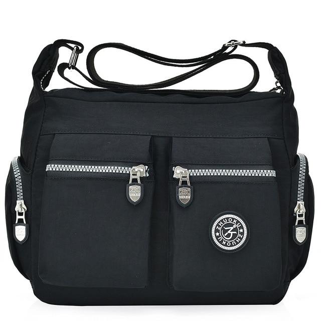 2020 womens bags new waterproof  shoulder & crossbody bags zipper nylon fashion cross travel  womens messenger bag