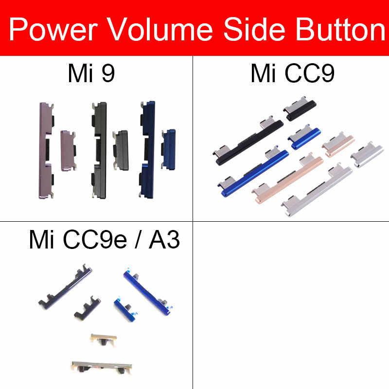 Power & נפח צד כפתור לxiaomi Mi 9 CC9 CC9E A3 כוח נפח אודיו בקרת מתג צד מפתח להגמיש כבל החלפת תיקון