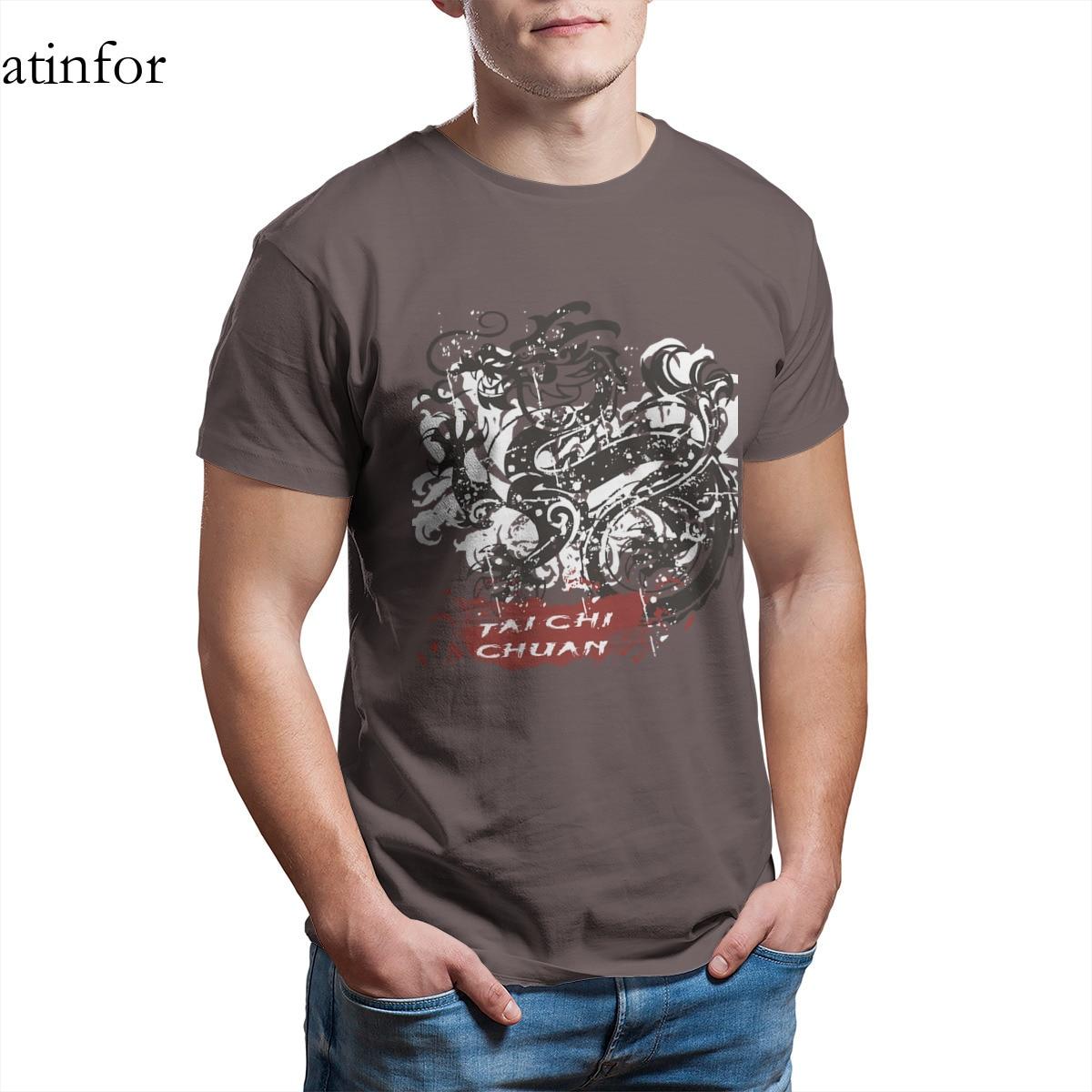 Крутая футболка Tai Chi Chuan, забавная черная футболка на заказ для косплея 4XL 5XL 6XL, 17477|Футболки| | АлиЭкспресс