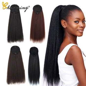 CHARMING Drawstring Ponytail Hair Synthetic Long Afro Kinky Curly Ponytail Extension for Women Black Brown Clip in Ponytail Hair elegant long synthetic stylish long shaggy curly clip in hair extension for women