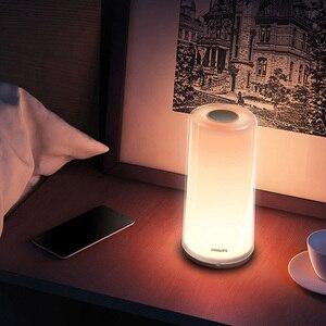 Image 3 - Xiaomi MIJIA Smart PHILIPS luz de Cabeceira Lâmpada de Cabeceira LEVOU luz de Escurecimento Noite Luz de Carregamento USB WiFi Bluetooth Mi Casa APP