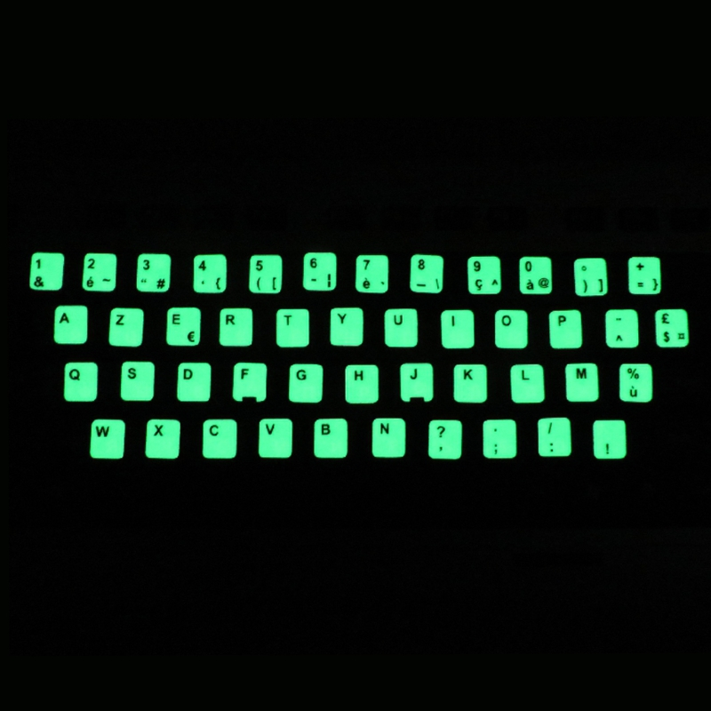 Luminous Waterproof Keyboard Stickers Fluorescent Keyboard Stickers Protective Film Layout with Button Letters for English key-3