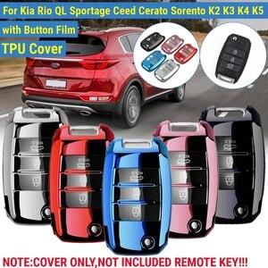 TPU obudowa kluczyka do samochodu zdalne etui chroń dla Kia Rio QL Sportage Ceed Cerato Sorento K2 K3 K4 K5 czarny niebieski srebrny czerwony różowy dostęp