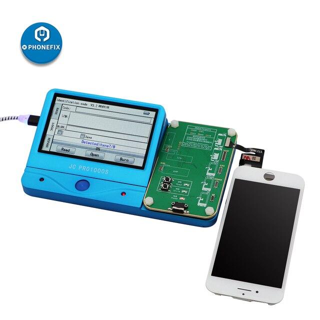 Фоточувствительный программатор JC Pro1000s для ремонта телефона, с ЖК экраном, Фоторецептор для чтения и записи, инструмент для резервного копирования для iPhone 7 8P X XS MAX
